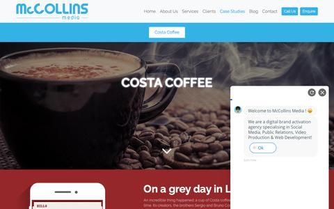 Screenshot of Case Studies Page mccollinsmedia.com - Costa Coffee Dubai   Our Works   McCollins Media - captured Sept. 20, 2018