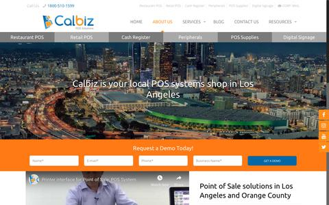 Screenshot of About Page calbizpos.com - Calbiz is Your One-Stop Shop in Los Angeles for Your POS System needs - captured Oct. 21, 2018