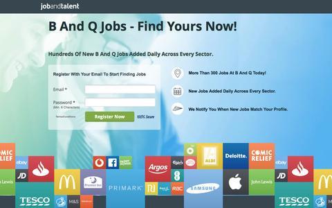 Screenshot of Landing Page jobandtalent.com - B And Q Jobs - See Latest - captured Nov. 13, 2016