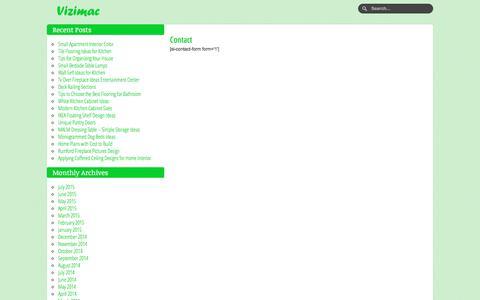 Screenshot of Contact Page vizimac.com - Contact : Vizimac - captured Sept. 24, 2018