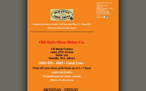 Screenshot of Press Page oldstyleshoeshine.com - Old Style Shoe Shine Co. L.L.C. - OLD STYLE SHOE SHINE COMPANY NEWS - captured Sept. 21, 2018