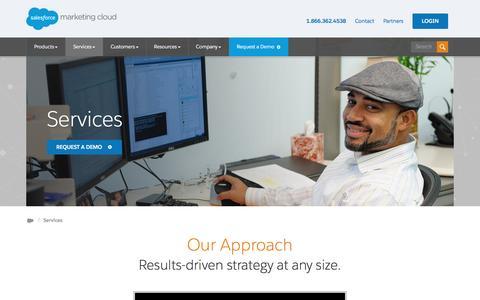 Screenshot of Services Page exacttarget.com - Services Overview | Salesforce Marketing Cloud - captured Dec. 31, 2015