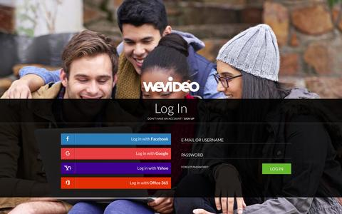 Screenshot of Login Page wevideo.com - Login - WeVideo - captured Dec. 11, 2015