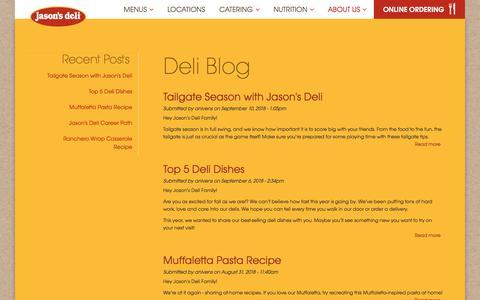 Screenshot of Blog jasonsdeli.com - Deli Blog | Jason's Deli - captured Sept. 20, 2018