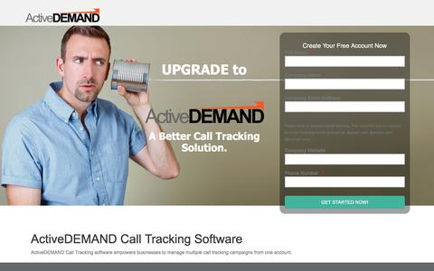Screenshot of Landing Page activedemand.com - Get More From Your Call Tracking - A - captured May 11, 2018