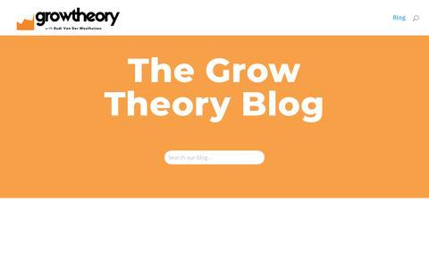 Screenshot of Blog growtheory.co.za - How to succeed through online marketing   Grow Theory - captured Nov. 21, 2018