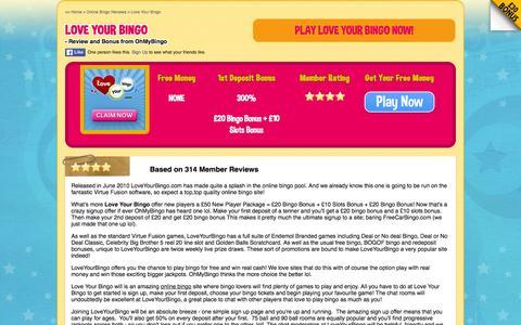 Screenshot of ohmybingo.com - Love Your Bingo | 300% welcome bonus | OhMyBingo - captured March 19, 2016