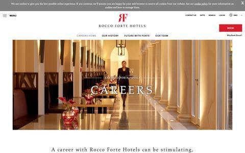 Screenshot of Jobs Page roccofortehotels.com - Jobs & Careers - Rocco Forte - captured Sept. 21, 2018