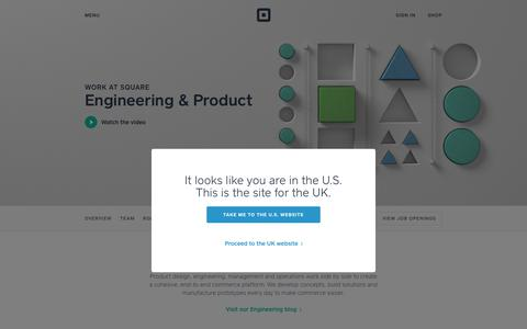 Screenshot of Jobs Page squareup.com - Engineering and Product Jobs at Square - captured Feb. 14, 2018