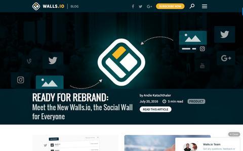 Screenshot of Blog walls.io - Your Hashtags Unleashed |Walls.io Blog - captured July 20, 2016
