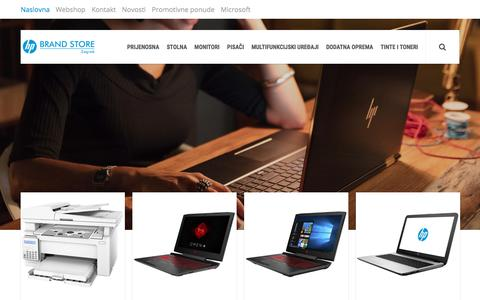 Screenshot of Home Page hp-store.hr - HP Brand Store - Powered by Mikronis - captured Jan. 30, 2018