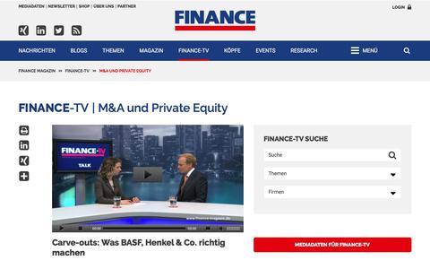 M&A und Private Equity-FINANCE Magazin