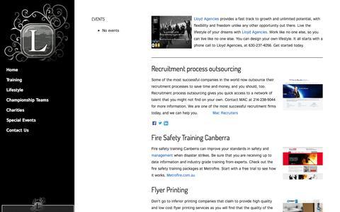 Screenshot of Press Page lloydagencies.com - LLOYD AGENCIES - captured July 16, 2016
