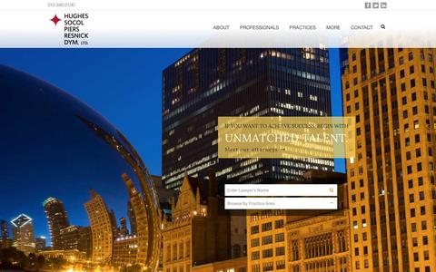Screenshot of Home Page hsplegal.com - Hughes Socol Piers Resnick & Dym, Ltd.   Chicago's Leading Litigation Firm - captured Dec. 16, 2018
