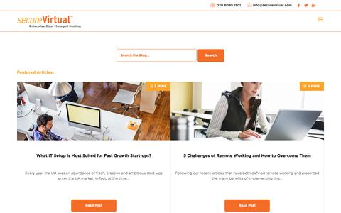 Screenshot of Blog securevirtual.com - Blog | secureVirtual - captured July 28, 2018