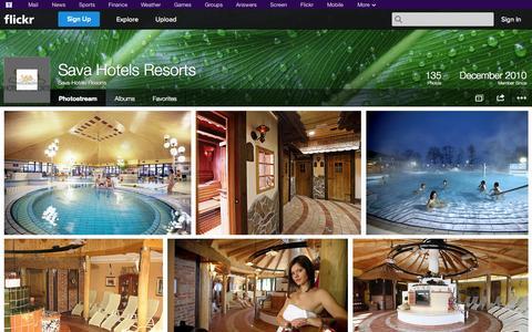 Screenshot of Flickr Page flickr.com - Flickr: Sava-Hotels-Resorts' Photostream - captured Oct. 23, 2014