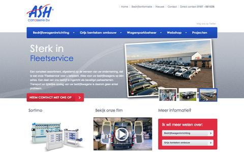 Screenshot of Home Page ashcarrosserie.nl - ASH Carrosserie | ASH Carosserie | Home - captured Oct. 4, 2014
