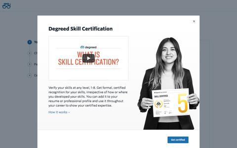 Certification | Degreed