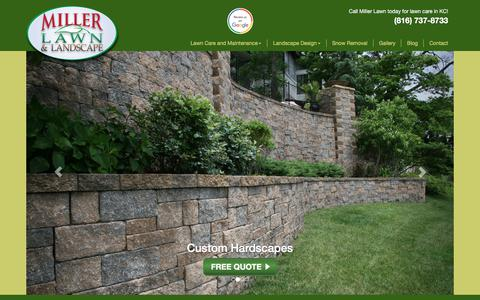 Screenshot of Home Page millerlawn.com - Miller Lawn Care | Lees Summit, Blue Springs, Independence - captured Oct. 19, 2017