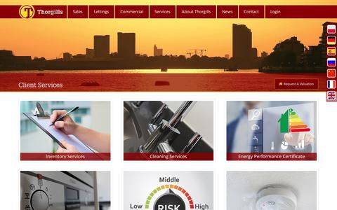 Screenshot of Services Page thorgills.com - Client Services with Thorgills Property Specialists - captured Dec. 23, 2016