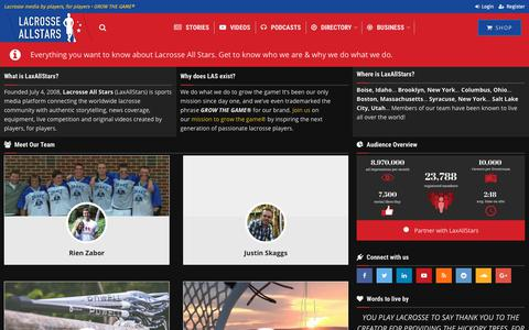 Screenshot of About Page laxallstars.com - Lacrosse All Stars - Everything You Need To Know About Our Company - captured June 10, 2019