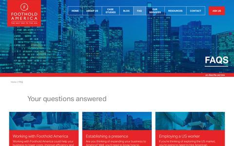Screenshot of FAQ Page footholdamerica.com - FAQ Archive | Foothold America - captured Aug. 19, 2018