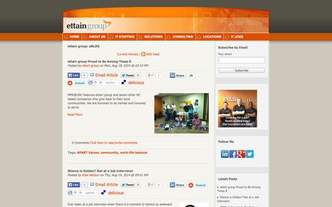 Screenshot of Blog ettaingroup.com - ettain group: eBLOG - captured Sept. 16, 2014