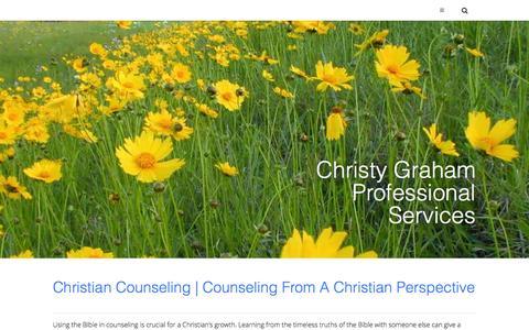 Screenshot of Services Page christygrahamlpc.com - Christy Graham, LPC | Professional Services - captured Oct. 2, 2014