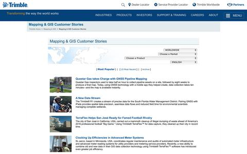 Trimble - Mapping & GIS Customer Stories