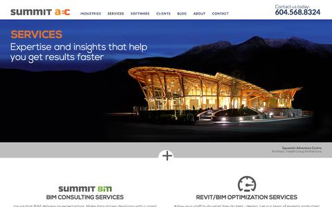 Screenshot of Services Page summitaec.com - Consulting & Professional Services | Summit AEC | Summit Technologies - captured Feb. 16, 2016