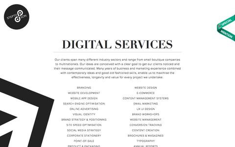 Services | Stepto & Son Graphic Design and Website Development Agency