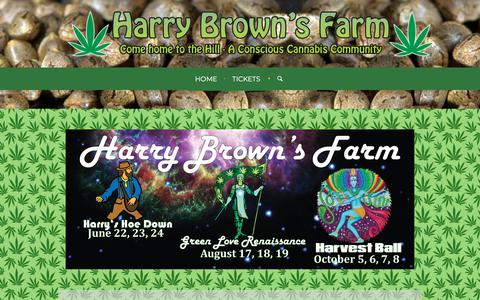 Screenshot of Home Page harryshill.net - Harry Brown's Farm - Come Home to The Hill - captured July 8, 2018
