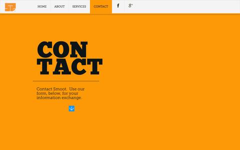 Screenshot of Contact Page smoottech.com - Contact Smoot Technical Services, LLC - captured Nov. 3, 2014
