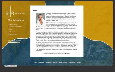 Screenshot of About Page elleschroeder.com - elleschroeder :: about - captured Oct. 3, 2014