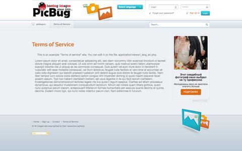 Screenshot of Terms Page picbug.ru - PicBug - бе�платный хо�тинг картинок без агре��ивной рекламы / загрузить фото, изображение - Forgotten password - captured Dec. 5, 2016
