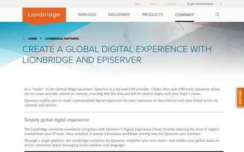 Create a Global Digital Experience with Lionbridge and Episerver