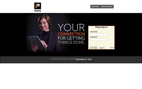 Screenshot of Login Page pdmi.com captured Oct. 1, 2014