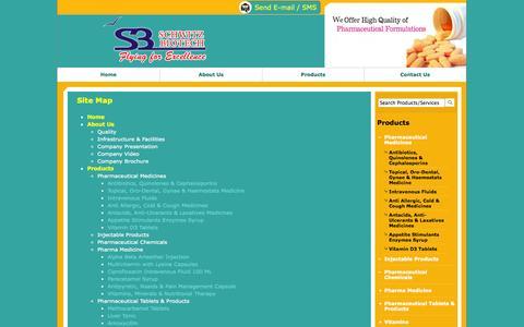 Screenshot of Site Map Page schwitzbiotech.com - Site Map - Schwitz Biotech - captured Sept. 30, 2014