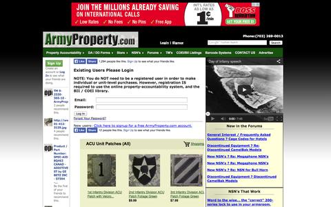 Screenshot of Login Page armyproperty.com - ArmyProperty.com - Login - captured Sept. 24, 2014