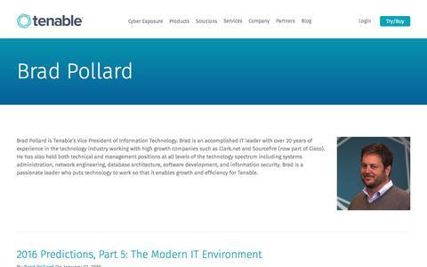 Brad Pollard | Tenable™