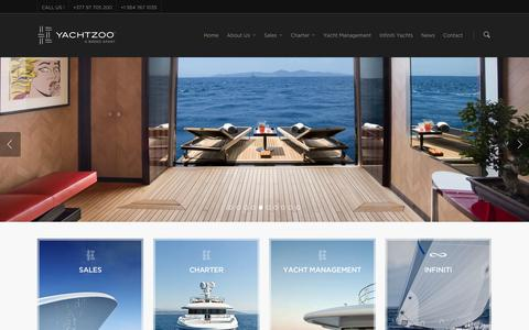 Screenshot of Home Page yacht-zoo.com - Home - Yachtzoo - captured Dec. 16, 2015
