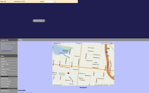 Screenshot of Maps & Directions Page memorialmbc.org - You're Welcome Here - Map - captured Nov. 28, 2016