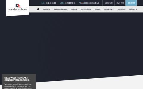 Screenshot of Privacy Page krabben.nl - Privacy policy - Van der Krabben makelaardij - captured Oct. 18, 2018