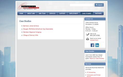 Screenshot of Case Studies Page netabn.com - Case Studies - Advanced Business Networks - captured Nov. 20, 2016