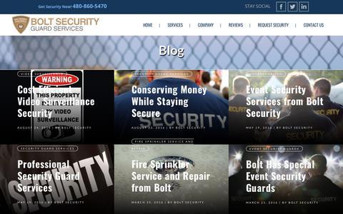Screenshot of Blog boltsecurityguard.com - Blog - Bolt Security Guard Services - captured Jan. 1, 2018