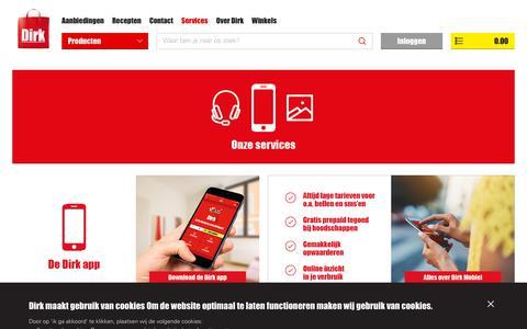 Screenshot of Services Page dirk.nl - Services   Dirk - captured Sept. 30, 2018