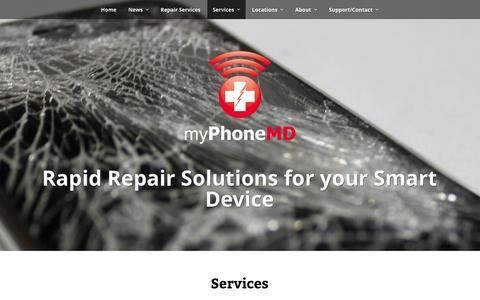 Screenshot of Services Page myphonemd.net - Services | myPhoneMD - captured Oct. 28, 2014