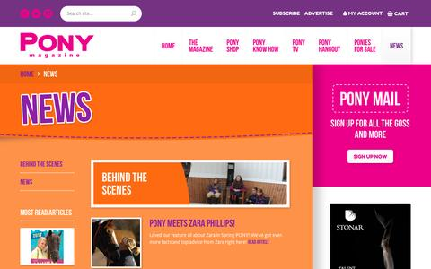Screenshot of Press Page ponymag.com - News - Pony Magazine Pony Magazine - captured April 25, 2017