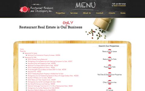 Screenshot of Site Map Page therestaurantbroker.com - Sitemap - captured Oct. 26, 2014