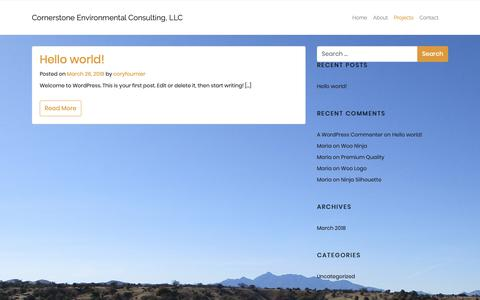 Screenshot of Blog cornerstone-environmental.com - Blog – Cornerstone Environmental Consulting, LLC - captured Sept. 29, 2018